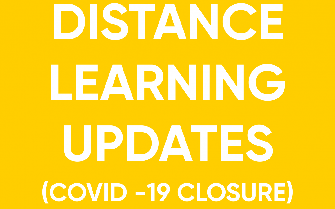 COVID-19 Distance Learning Updates
